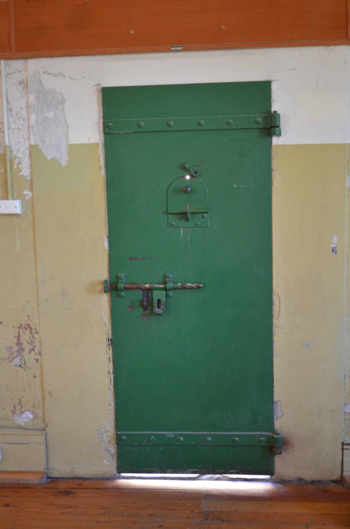 The door to the cell that house the prisoners just before they were hung