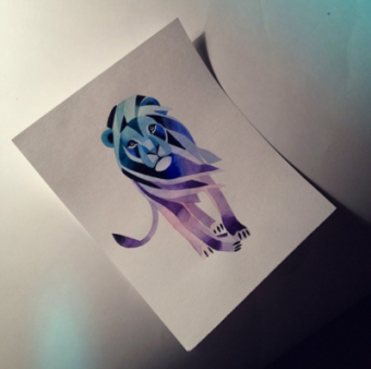 Hand painted watercolour